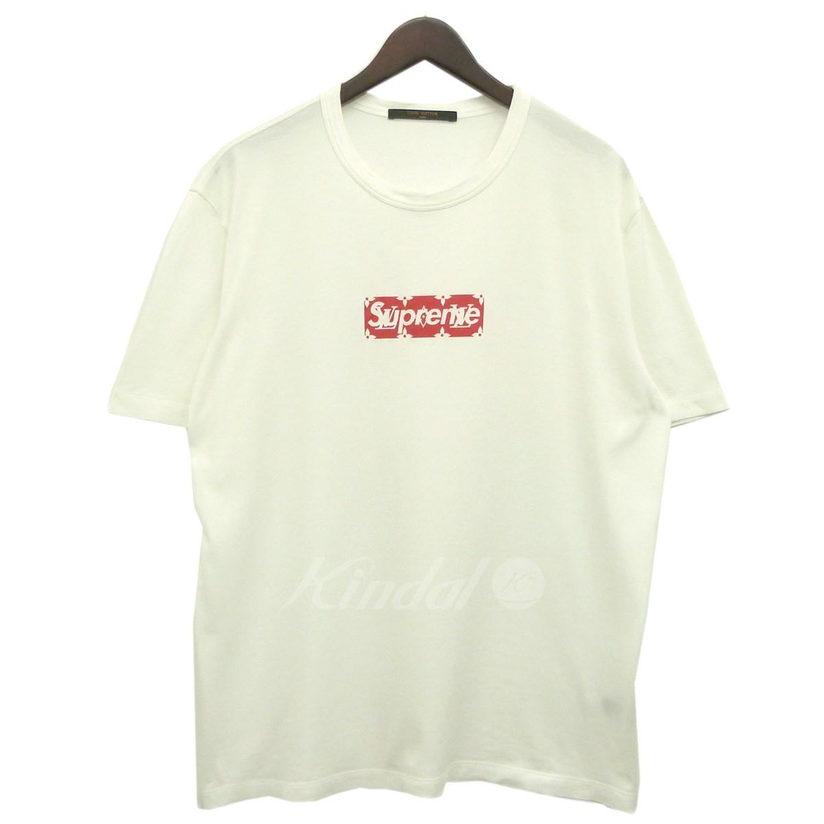 【中古】Supreme x LOUIS VUITTON 17AW「Box Logo Tee」モノグラムボックスロゴTシャツ ホワイト サイズ:L 【送料無料】 【171018】(シュプリーム ルイヴィトン)