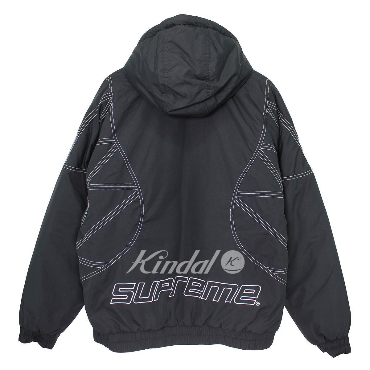 【中古】SUPREME 18AW Zig Zag Stitch Puffy Jacket ジグザグステッチパフィージャケット ブラック サイズ:M 【送料無料】 【171018】(シュプリーム)