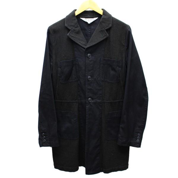 【中古】COMME des GARCONS COMME des GARCONS 切替コート 2010AW ブラック×グレー サイズ:M 【送料無料】 【171018】(コムデギャルソンコムデギャルソン)