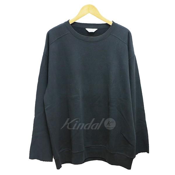 【中古】UNUSED crew neck sweat shirt ブラック サイズ:2 【送料無料】 【171018】(アンユーズド)