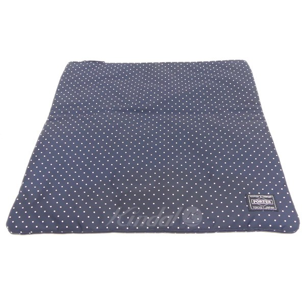 d403c924a94d HEAD PORTER PLUS dot pattern clutch bag navy size  - (head porter plus)