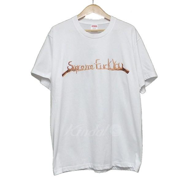 【中古】SUPREME 2018AW Fuck You Tee プリントTシャツ 【送料無料】 【207587】 【KIND1550】