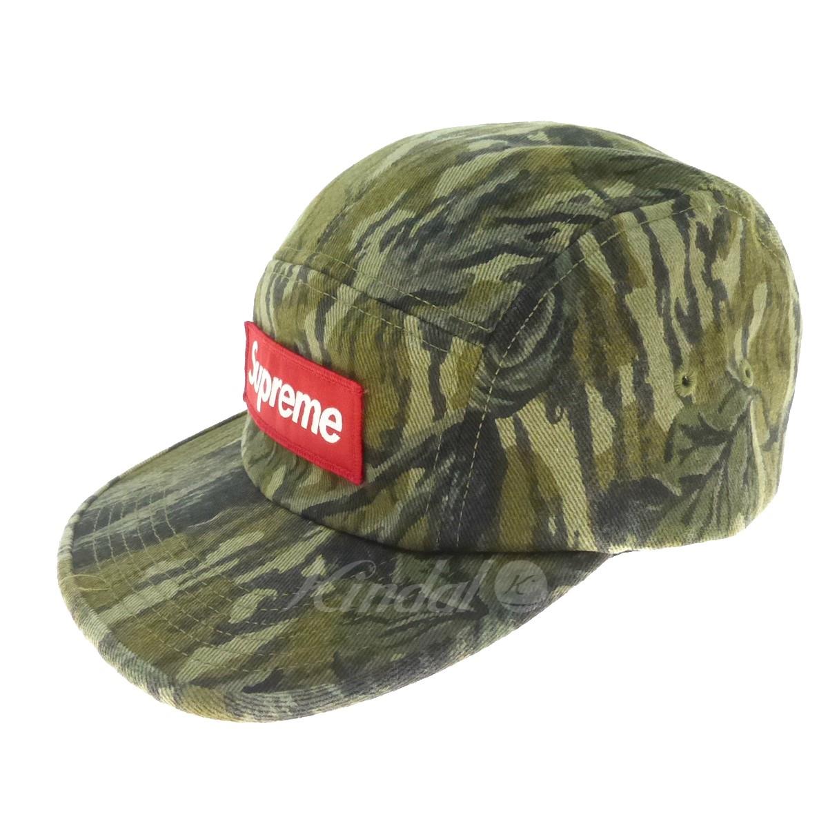 【中古】SUPREME カモフラ柄キャップ 2018A/W Military Camp Cap カーキ サイズ:- 【送料無料】 【191018】(シュプリーム)