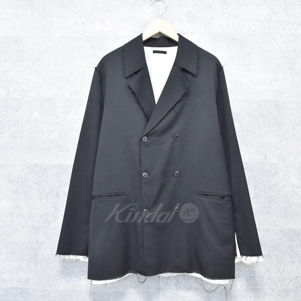 【中古】bukht カットオフダブルジャケット B-N NOTCHED LAPEL JACKET ブラック サイズ:3(L) 【送料無料】 【191018】(ブフト)