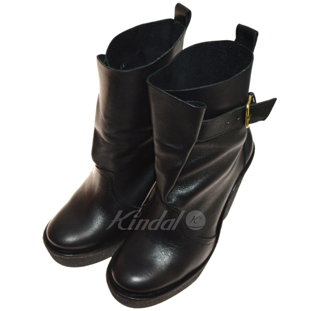【中古】PIERRE HARDY ウェッジソールブーツ ブラック サイズ:36 【送料無料】 【191018】(ピエールアルディ)