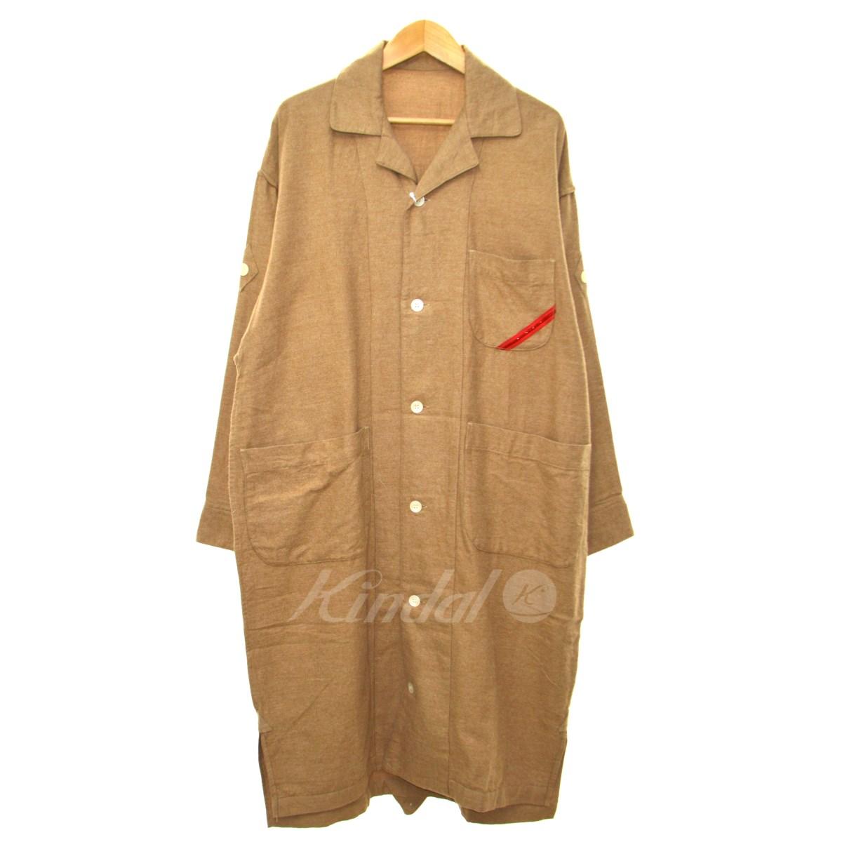 【中古】phingerin 17AW「PHINGERIN SLEEPER NL」ネルシャツコート ベージュ サイズ:M 【送料無料】 【191018】(フィンガリン)