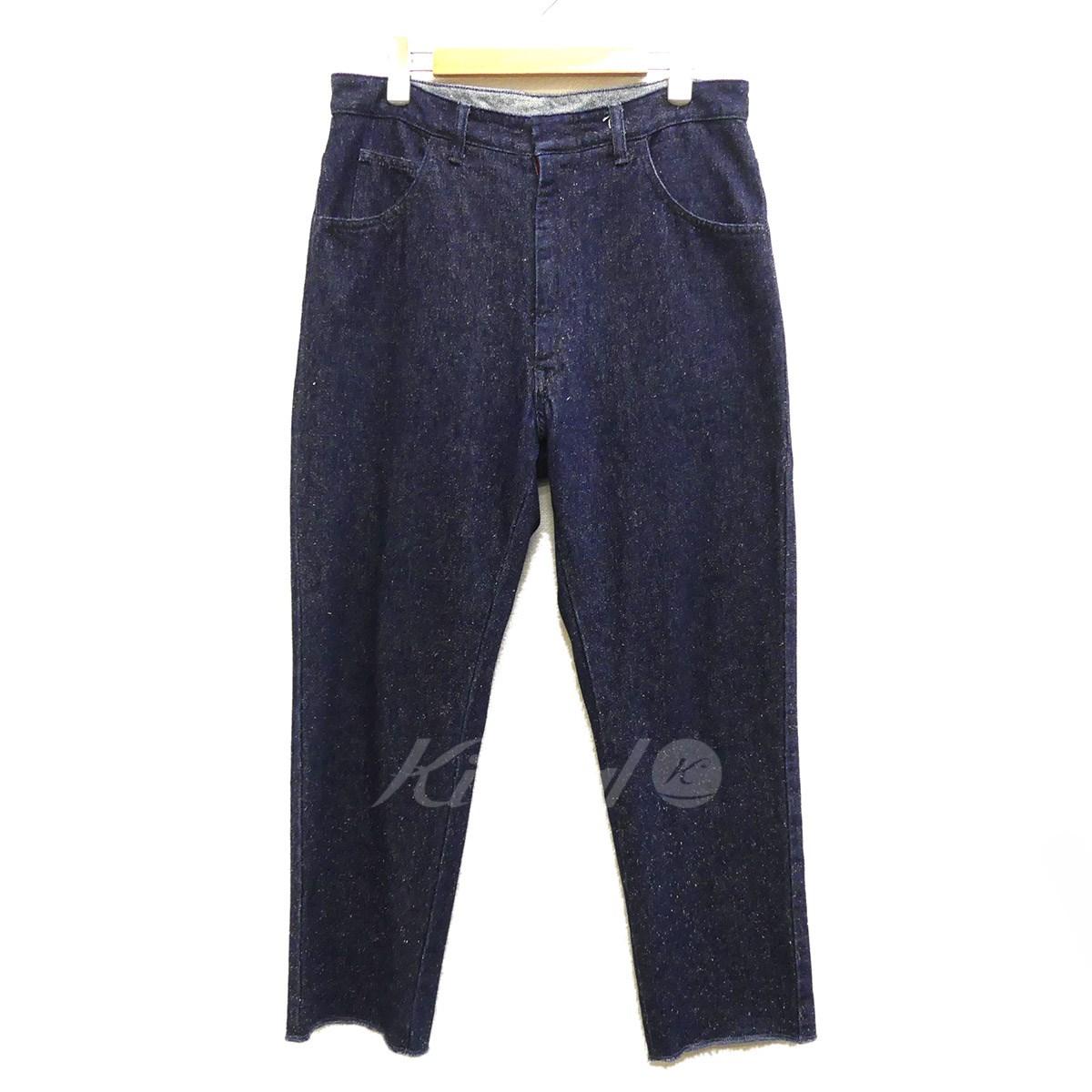 【中古】UNUSED Silk Nep Denim Pants 2018SS インディゴ サイズ:2 【送料無料】 【191018】(アンユーズド)