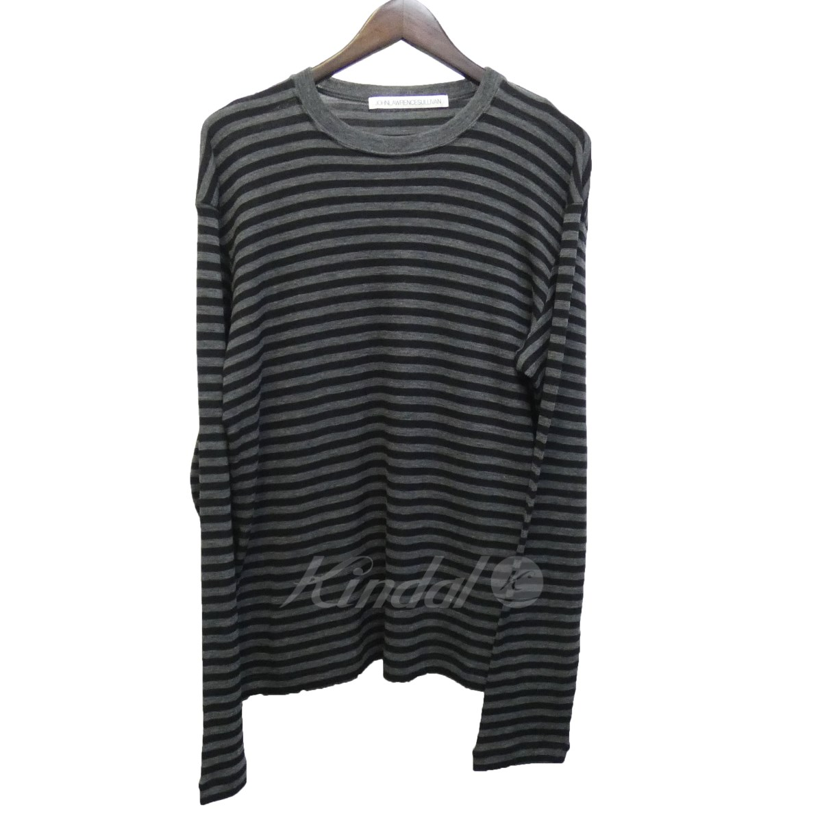 【中古】JOHN LAWRENCE SULLIVAN 18AW「CREW NECK TOP」ボーダーニット 【送料無料】 【107382】 【KIND1550】