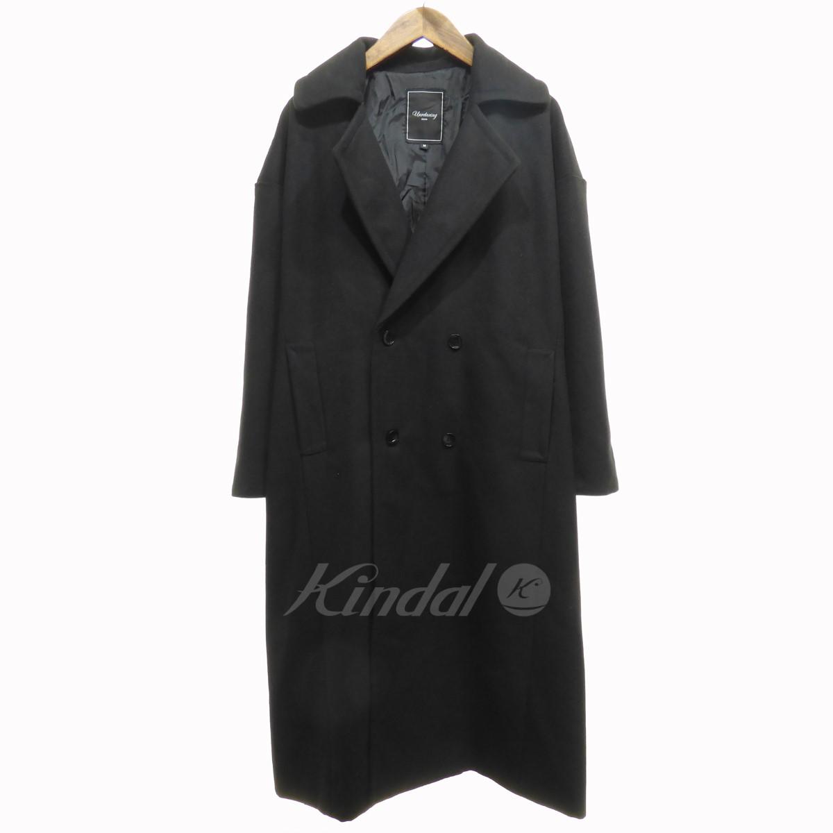 【中古】Unrelaxing オーバーサイズPジャケット Pコート ブラック サイズ:M 【送料無料】 【201018】(アンリラクシング)