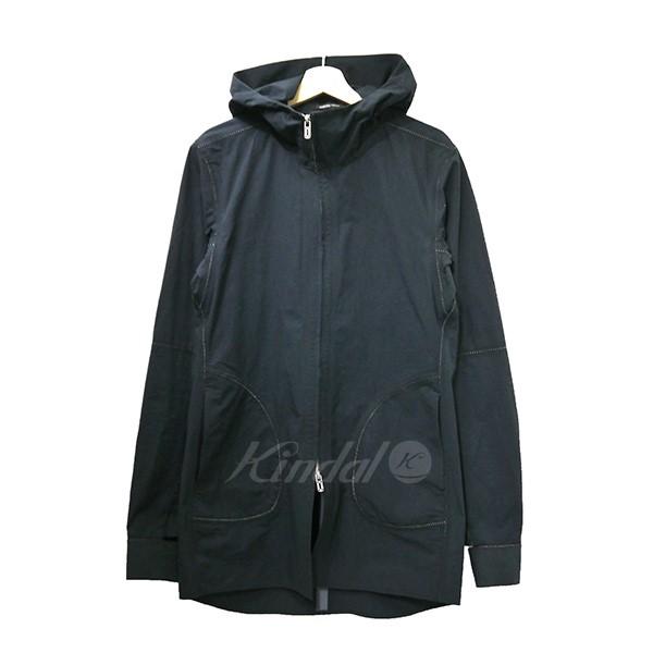 【中古】SADDAM TEISSY サダムテイシー 2017SS デザインフーデッドコート 墨黒 サイズ:2 【送料無料】 【201018】(サダムテイシー)
