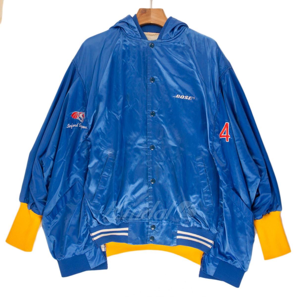 【中古】77circa リメイク フード スタジアムジャンパー ブルー/オレンジ 【送料無料】 【201018】(ナナナナサーカ)