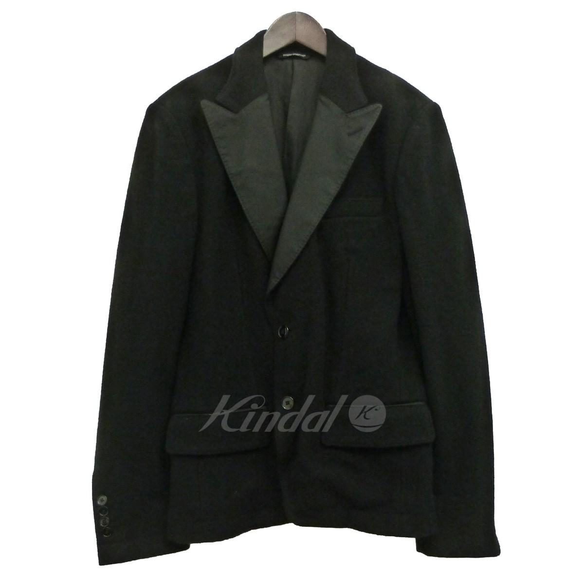 【中古】DOLCE&GABBANA ピークドラペル2Bジャケット ブラック サイズ:44 【送料無料】 【201018】(ドルチェアンドガッバーナ)