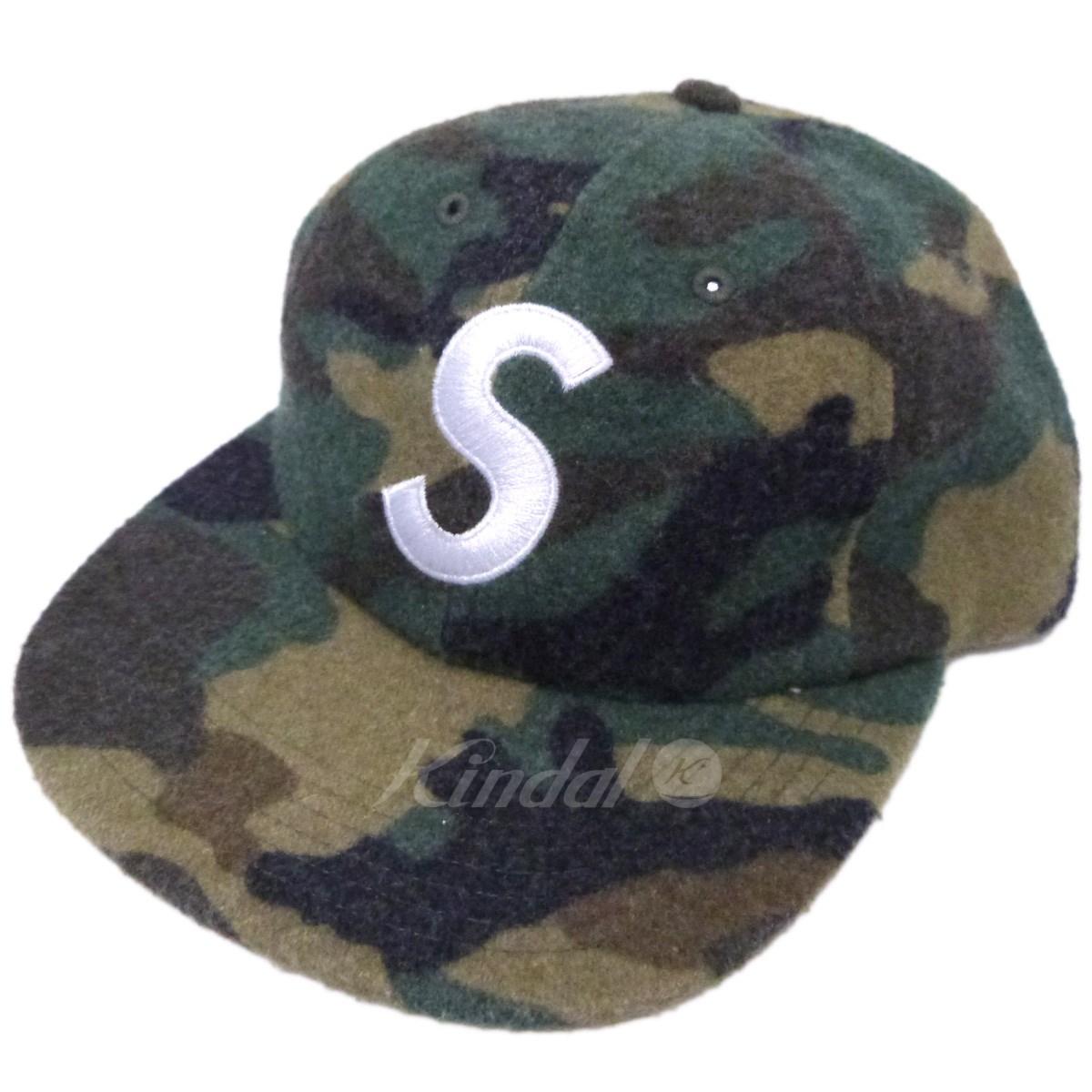 【中古】SUPREME 17AW「Wool S Logo 6-Panel」カモフラージュウールSロゴキャップ カーキ サイズ:- 【送料無料】 【201018】(シュプリーム)