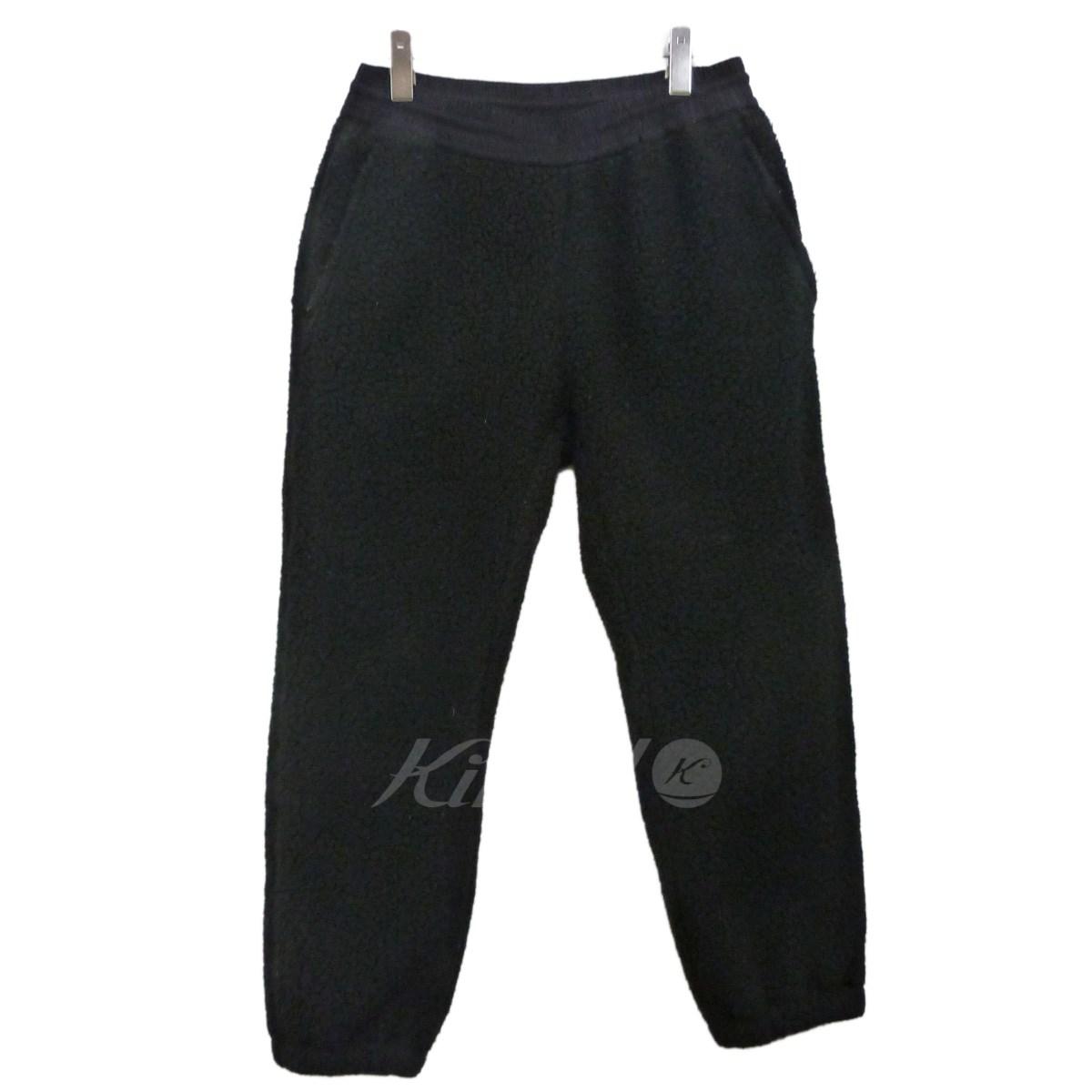 【中古】SUPREME 17AW「Polartec Deep Pile Pant」フリースパンツ ブラック サイズ:S 【送料無料】 【201018】(シュプリーム)