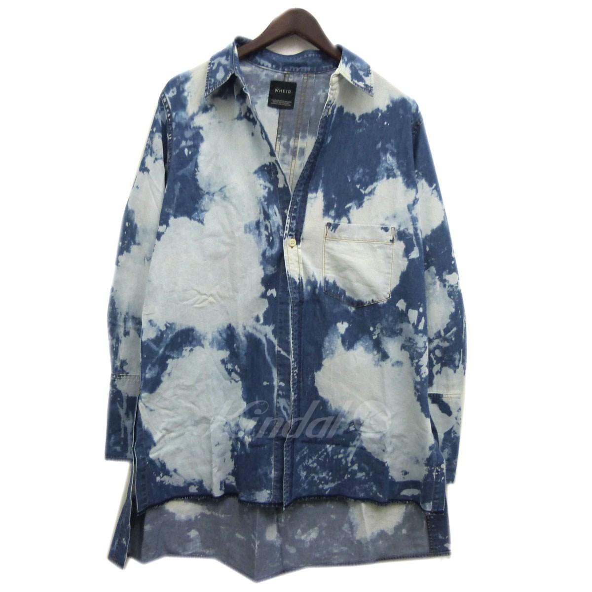 【中古】WHEIR Bobson 18SS ブリーチ加工ロングデニムシャツ インディゴ サイズ:M 【送料無料】 【201018】(ウェアボブソン)
