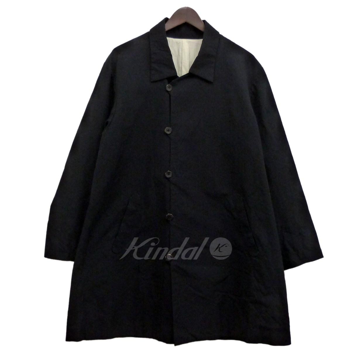 【中古】Araki Yuu 「Soutien Collar Coat」コットンステンカラーコート ブラック サイズ:1 【送料無料】 【201018】(アラキユウ)