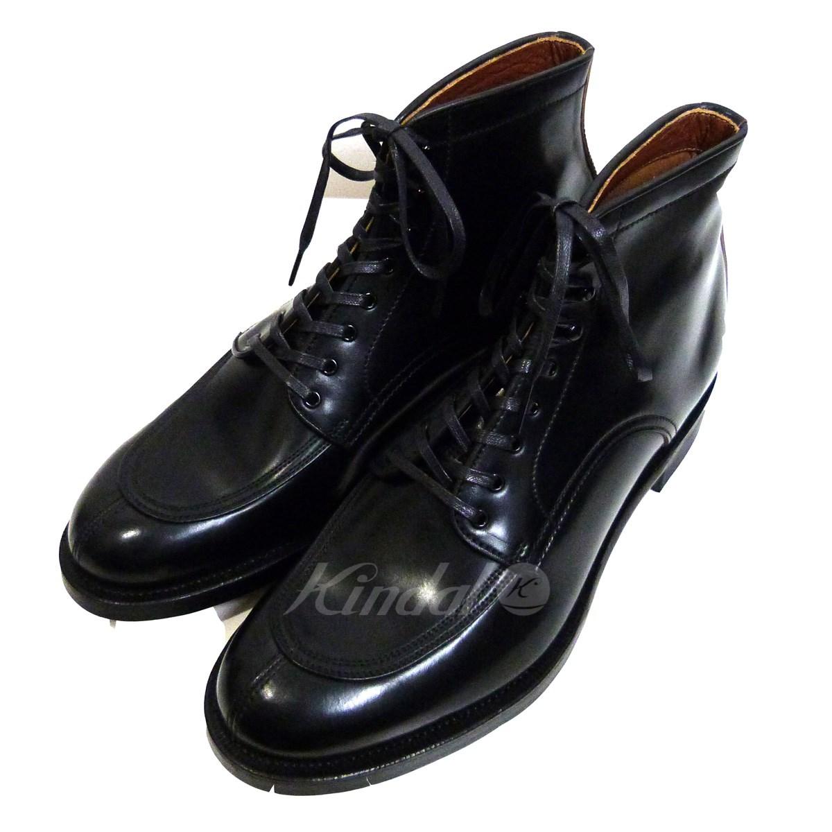 【中古】MAKERS モックトゥコードバンレースアップブーツ ブラック サイズ:8 【送料無料】 【201018】(メイカーズ)