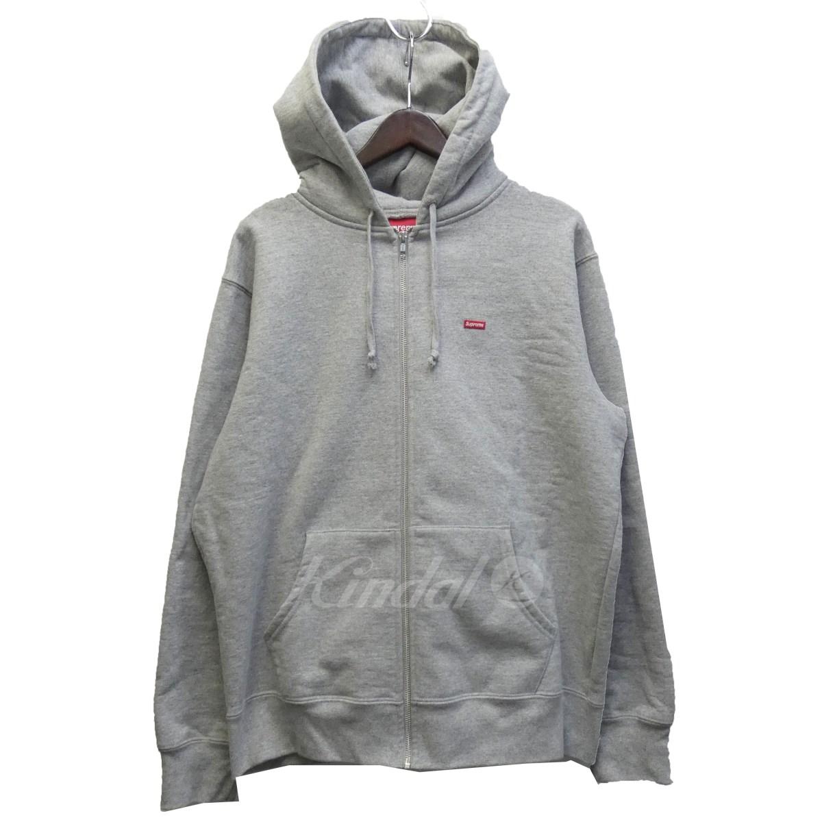 【中古】SUPREME 「Small Box Zip Up Sweatshirt」 スモールボックスロゴジップパーカー グレー サイズ:L 【送料無料】 【201018】(シュプリーム)
