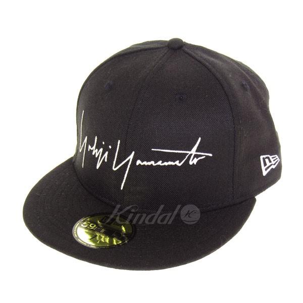 【中古】YOHJI YAMAMOTO pour homme×NEW ERA ブランドロゴ刺繍デザインウールキャップ ブラック サイズ:7 3/4 【送料無料】 【201018】(ヨウジヤマモトプールオム ニューエラ)