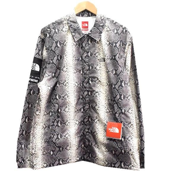 【中古】SUPREME×THE NORTH FACE 18SS Snakeskin Taped Seam Coaches Jacke ジャケット ブラック サイズ:M 【送料無料】 【211018】(シュプリーム ノースフェイス)