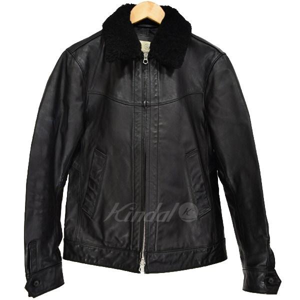 【中古】BEAUTY&YOUTH UNITED ARROWS 襟ムートンホーストラックジャケット ブラック サイズ:M 【送料無料】 【211018】(ビューティアンドユース ユナイテッドアローズ)