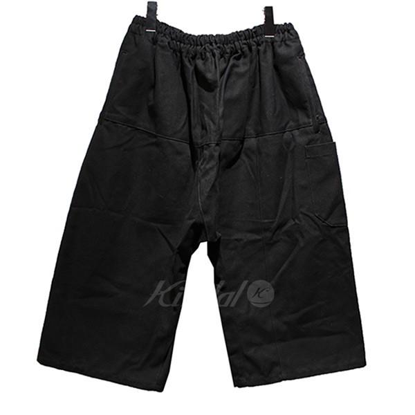 【中古】RAF SIMONS 2018SS Short pants with elastic サルエル ワイドパンツ ブラック サイズ:50 【送料無料】 【201018】(ラフシモンズ)