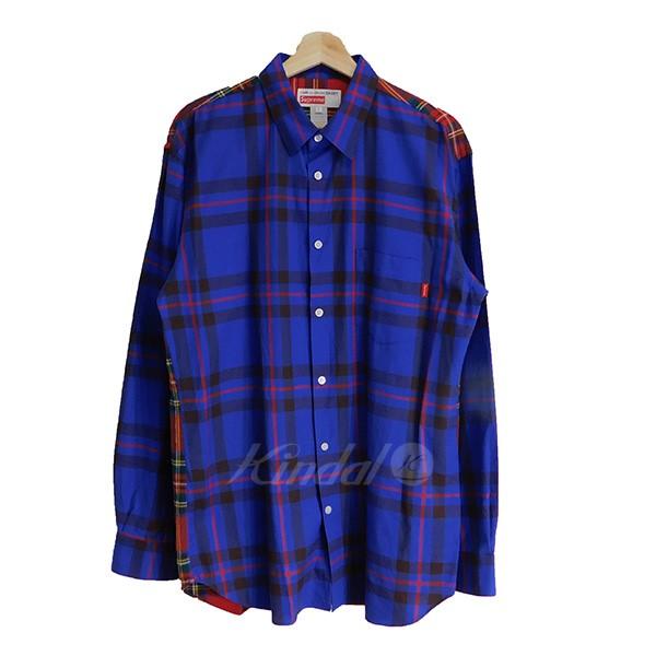 【中古】SUPREME COMME des GARCONS SHIRTS 2015AW チェックシャツ マルチカラー サイズ:L 【送料無料】 【201018】(シュプリーム コムデギャルソン)