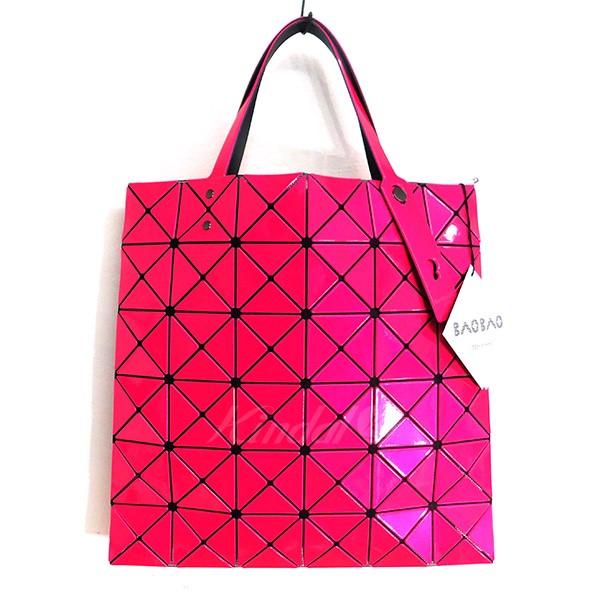 【中古】BAO BAO ISSEY MIYAKE PVC メッシュ トートバッグ ピンク 【送料無料】 【201018】(バオバオイッセイミヤケ)