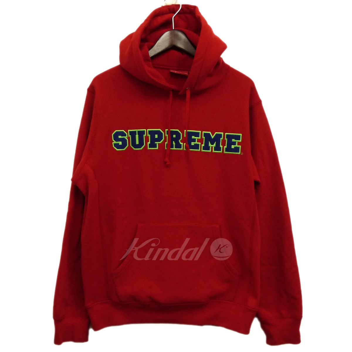 【中古】SUPREME 18SS「Cord Collegiate Logo Hooded Sweatshirt」パーカー 【送料無料】 【128603】 【KIND1550】