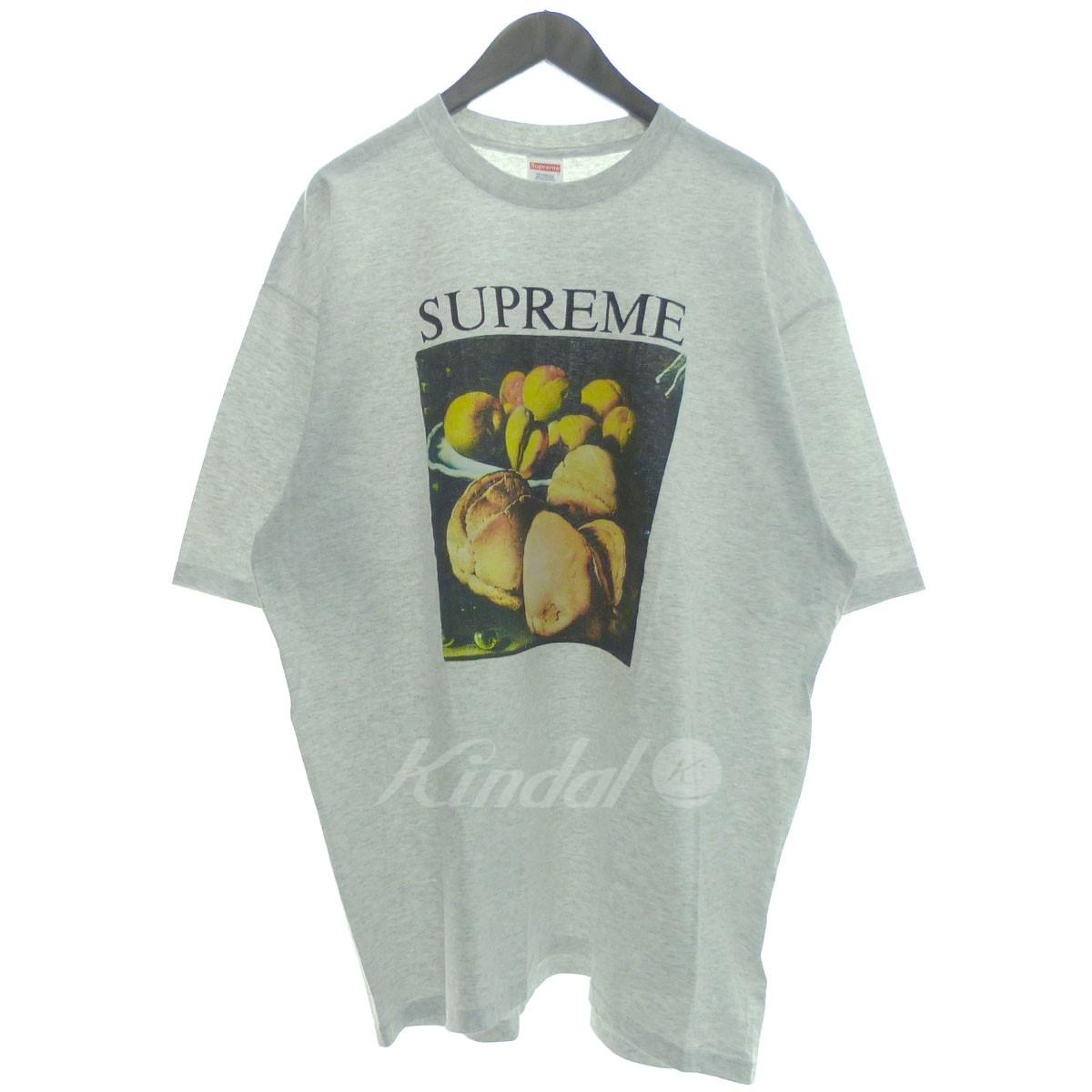 【中古】SUPREME '18AW 「Still Life Tee」スティルライフTシャツ グレー サイズ:XL 【送料無料】 【221018】(シュプリーム)