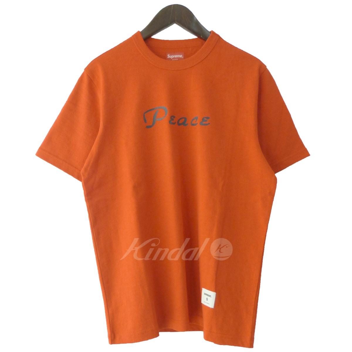 【中古】SUPREME '18AW 「Peace S/S Top」ピースTシャツ レッド サイズ:S 【送料無料】 【221018】(シュプリーム)