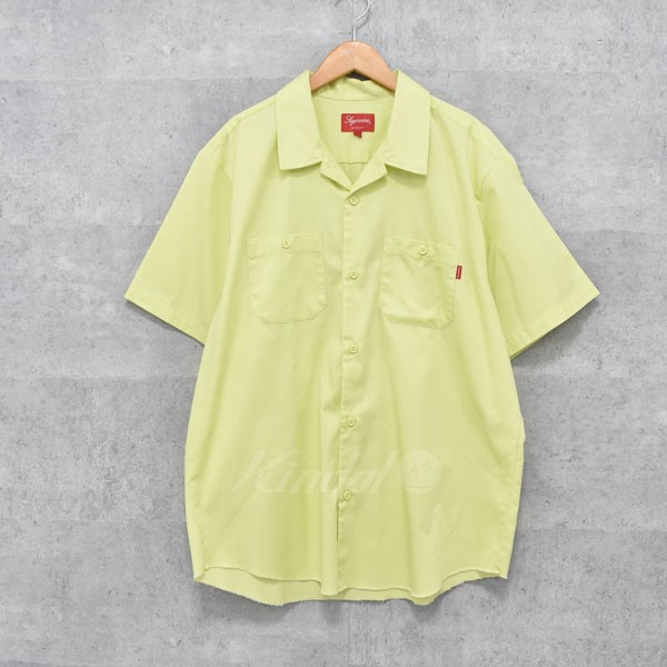 【中古】SUPREME 17AW Gonz Ramm Work Shirt ゴンズ ラム ワークシャツ イエロー サイズ:L 【送料無料】 【221018】(シュプリーム)