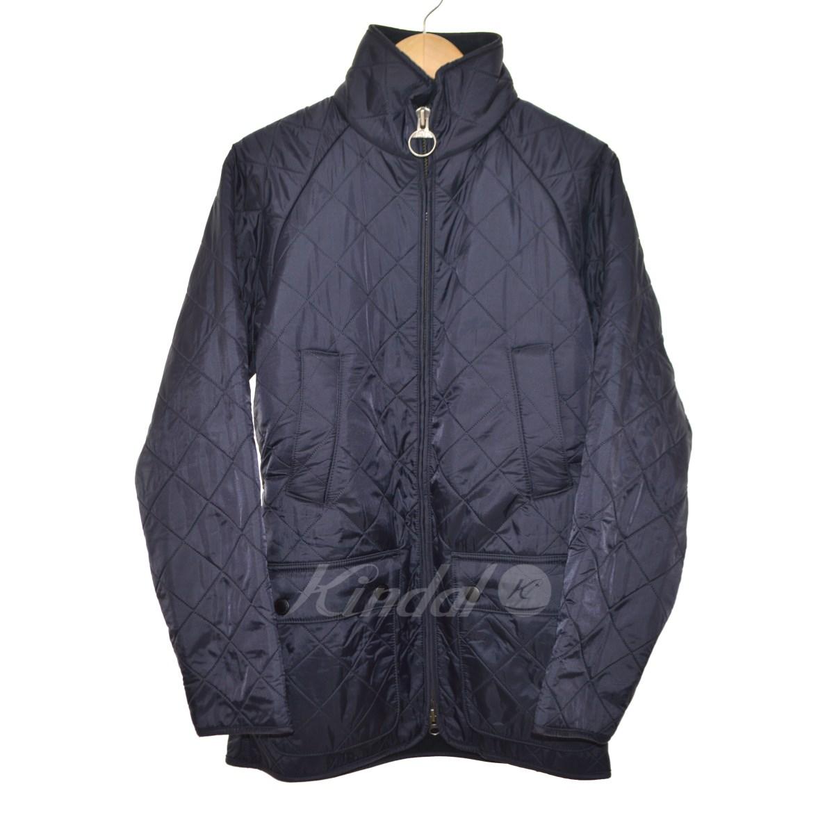 【中古】Barbour POLAR QUILT JACKET SL キルティングジャケット ネイビー サイズ:38 【送料無料】 【221018】(バーブァー)