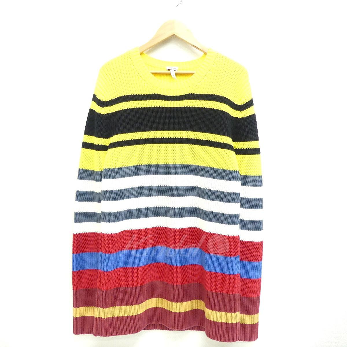 【中古】LOEWE Multicolored Striped Sweater 2015AW マルチカラー サイズ:S 【送料無料】 【221018】(ロエベ)