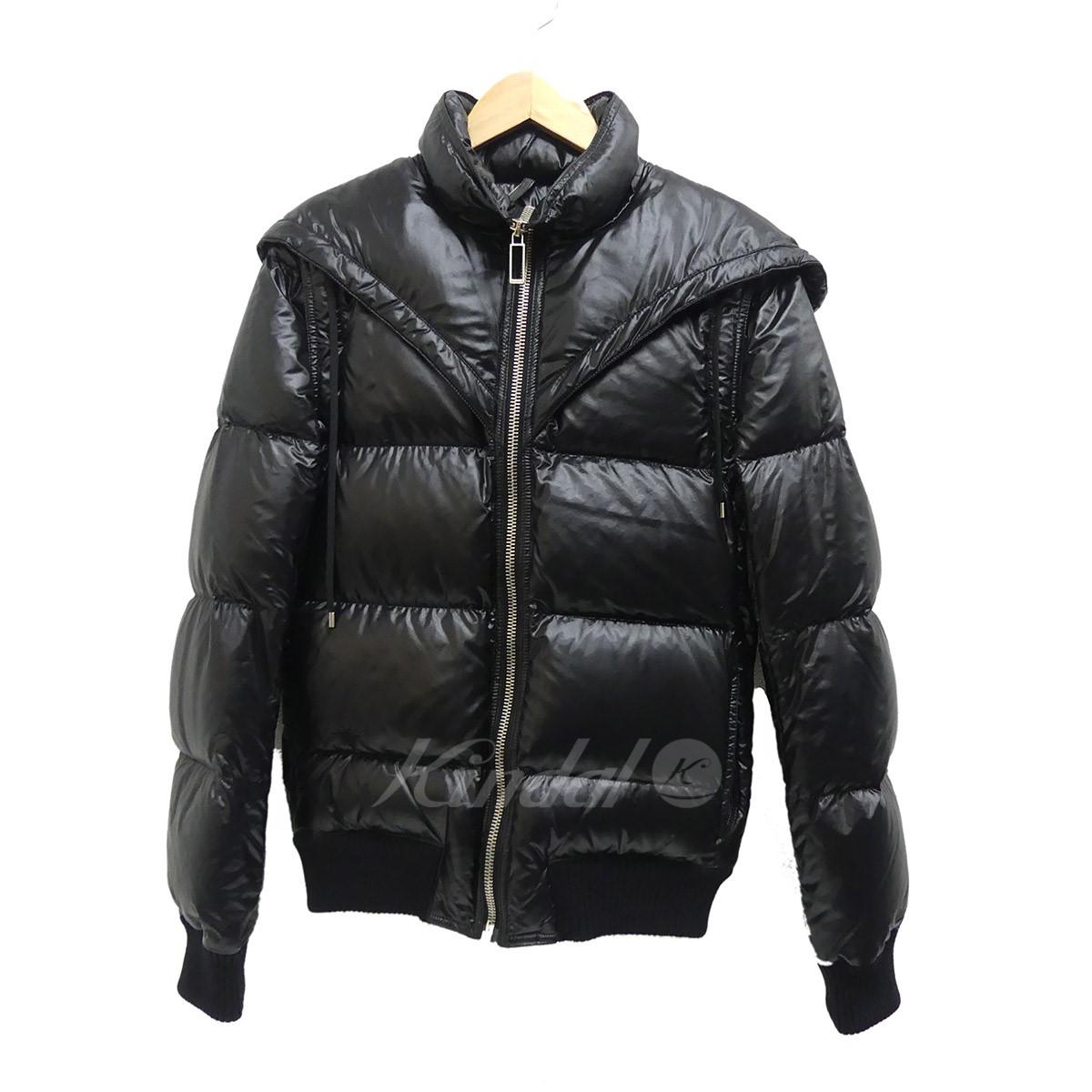 【中古】Dior Homme 2WAYフードダウンジャケット 2009AW ブラック サイズ:44 【送料無料】 【221018】(ディオールオム)