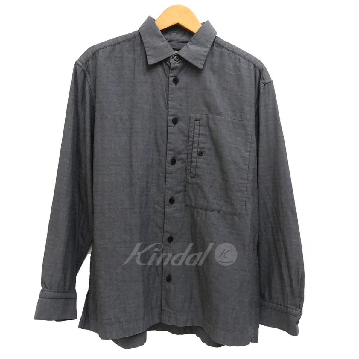 【中古】ISSEY MIYAKE MEN 長袖シャツ 2016SS グレー サイズ:3 【送料無料】 【221018】(イッセイミヤケ)