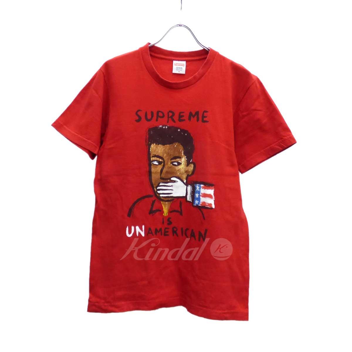 【中古】SUPREME Un American Tee 半袖Tシャツ レッド サイズ:S 【送料無料】 【221018】(シュプリーム)