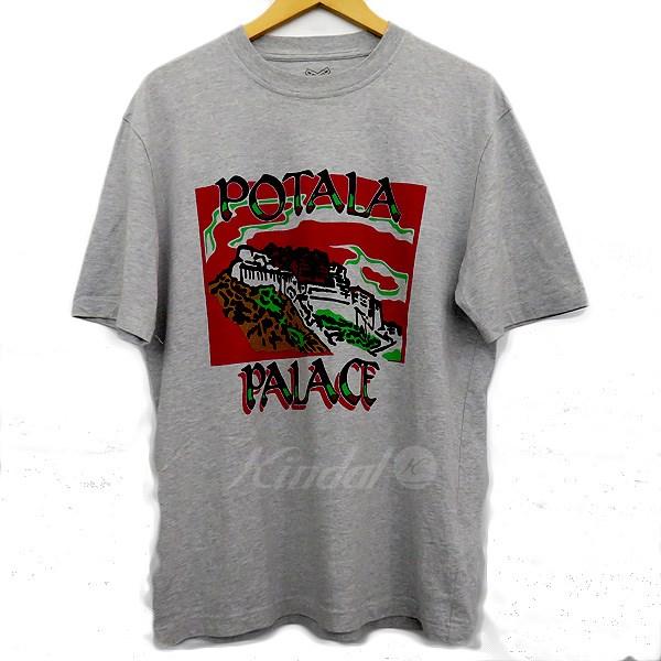 【中古】PALACE プリントTシャツ グレー サイズ:M 【送料無料】 【221018】(パラス)