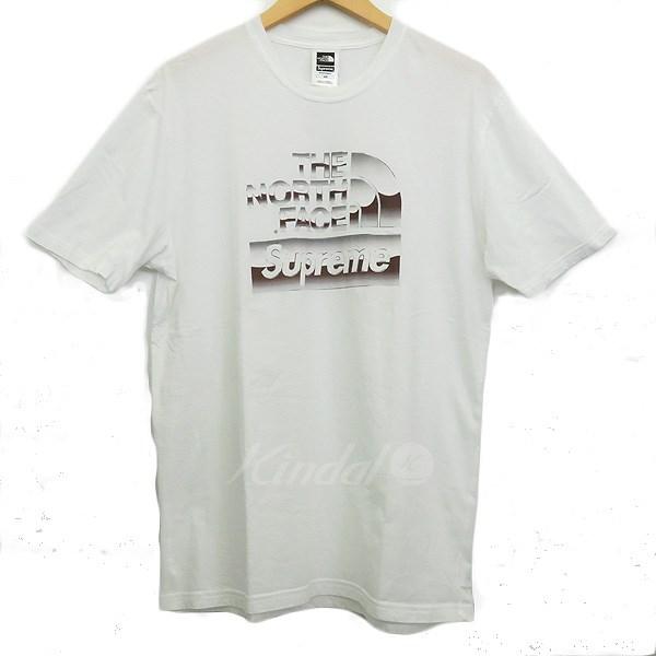 【中古】SUPREME ×THE NORTH FACE 18SS Metallic Logo Tee ホワイト サイズ:M/M 【送料無料】 【221018】(シュプリーム)