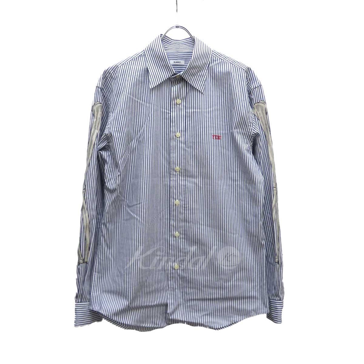【中古】KAIKO ストライプシャツ ネイビー×ホワイト サイズ:2 【送料無料】 【231018】(カイコー)