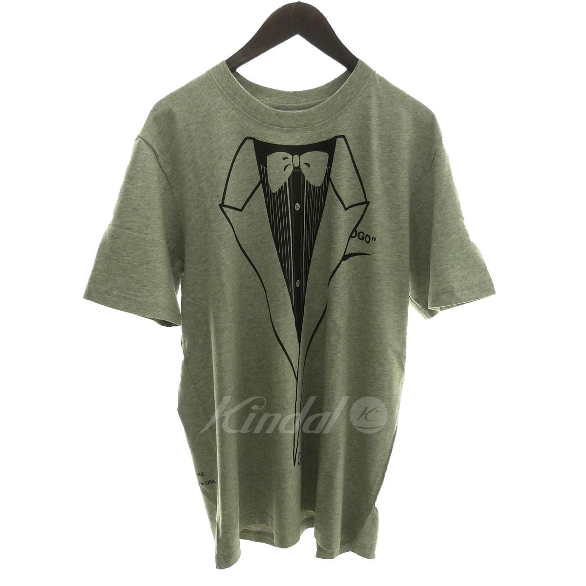 【中古】OFF WHITE×NIKE '18AW 「M NRG A6 TEE」プリントTシャツ グレー サイズ:L 【送料無料】 【231018】(オフホワイト ナイキ)