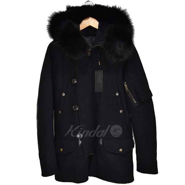 【中古】1 piu 1 uguale 3 N-3B COLD WEATHER コート ブラック サイズ:4 【送料無料】 【231018】(ウノ ピュ ウノ ウグァーレ トレ)