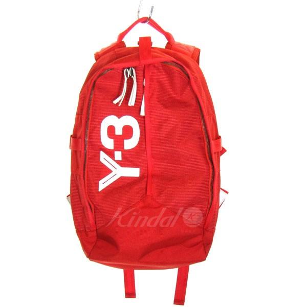 【中古】Y-3 Logo Back Pack ロゴデザインバックパック レッド サイズ:- 【送料無料】 【231018】(ワイスリー)