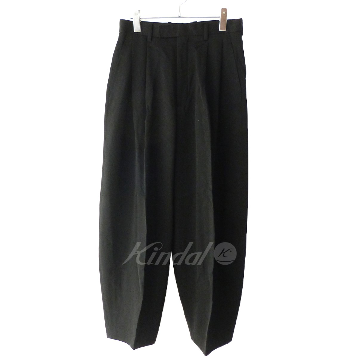 【中古】LITHIUM HOMME 「SUPER 120'S ULTRA-BLACK WOOL BALLON TROUSERS」 ブラック サイズ:44 【送料無料】 【241018】(リチウムオム)