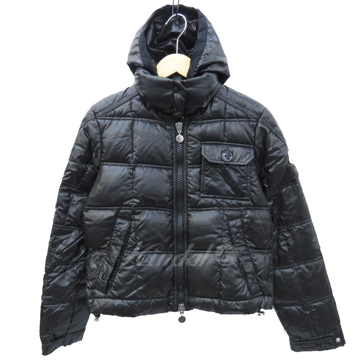 【中古】MONCLER フーデッドダウンジャケット ブラック サイズ:0 【送料無料】 【251018】(モンクレール)