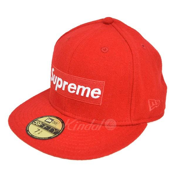 【中古】SUPREME x Woolrich Box Logo New Era Cap 2010AW レッド サイズ:7 5/8 【送料無料】 【251018】(シュプリーム)