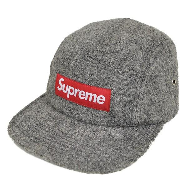 【中古】SUPREME x Harris Tweed Box Logo Camp Cap 2012AW グレー サイズ:- 【送料無料】 【251018】(シュプリーム)