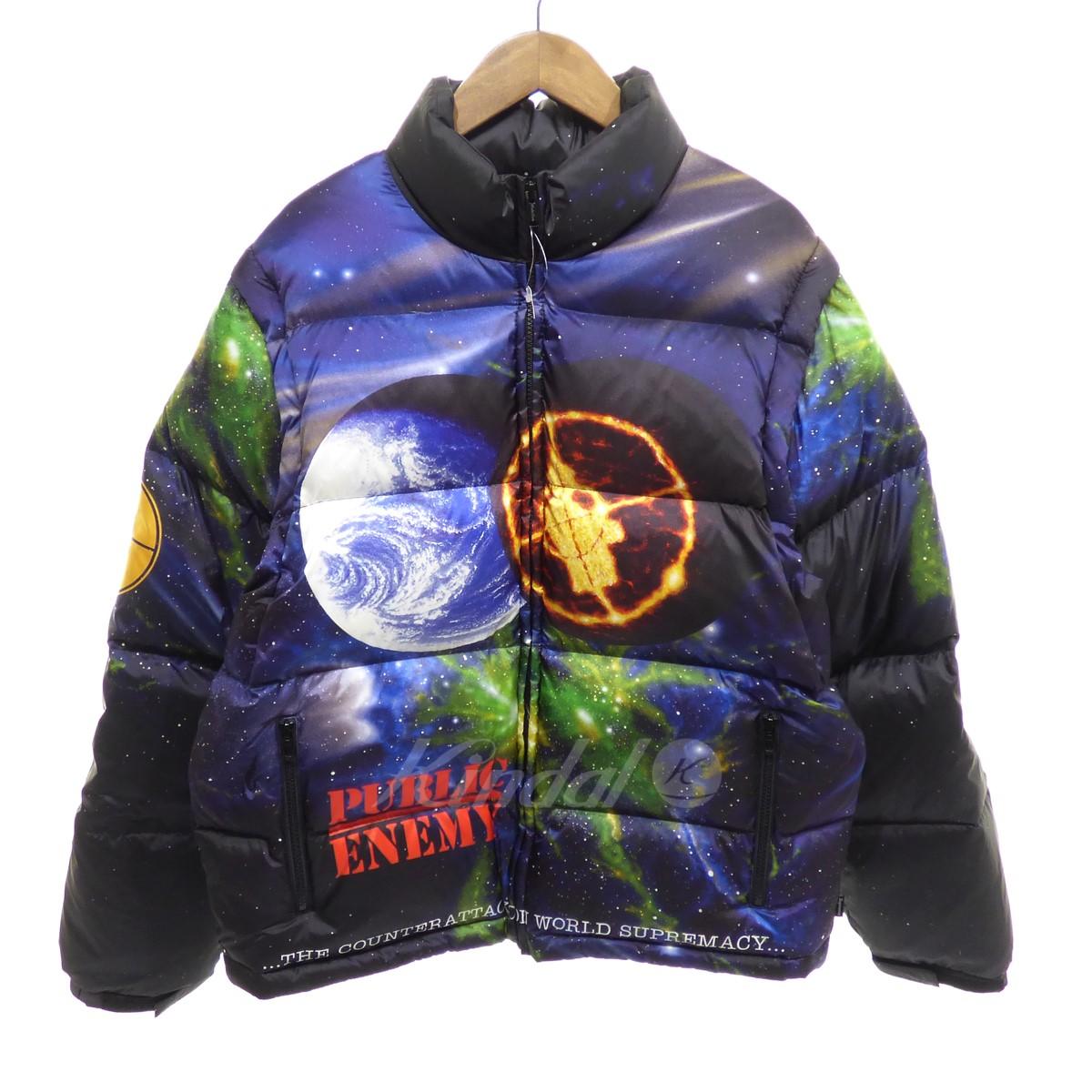 【中古】Supreme×UNDER COVER 【2018S/S】Public Enemy Puffy Jacket ダウンブルゾン 【送料無料】 【089756】 【KIND1550】