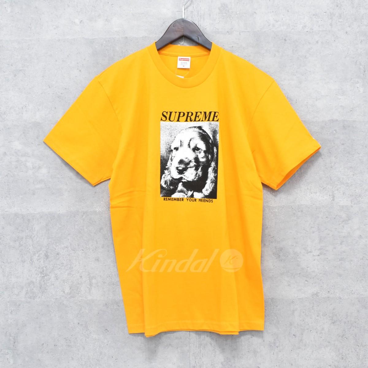 【中古】SUPREME 18AW Remember Tee リメンバー Tシャツ イエロー サイズ:M 【送料無料】 【251018】(シュプリーム)