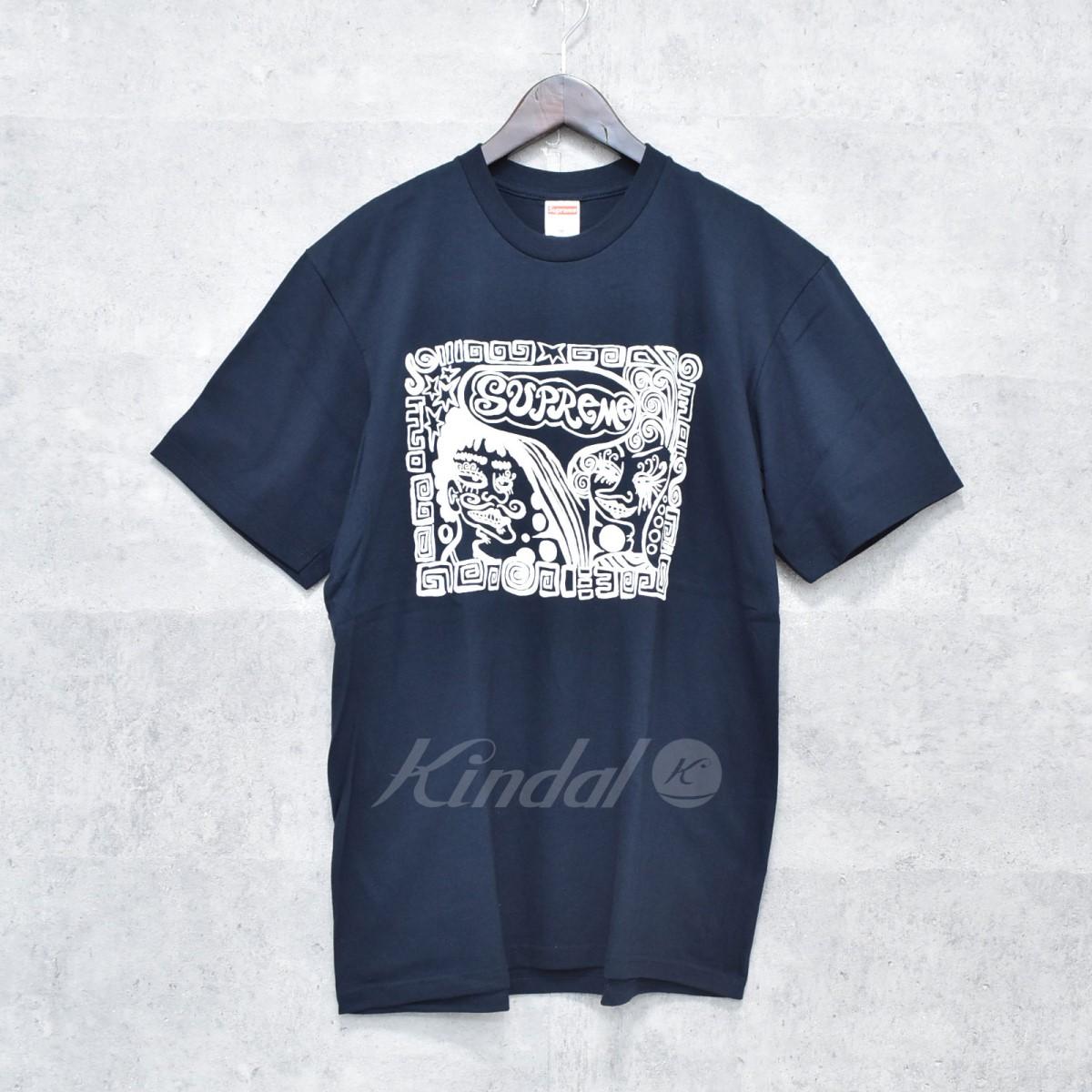 【中古】SUPREME 18AW Faces Tee プリントTシャツ ネイビー サイズ:M 【送料無料】 【251018】(シュプリーム)